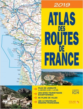 ATLAS DES ROUTES DE FRANCE 2019