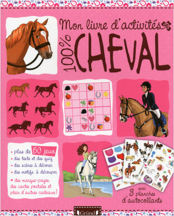 Mon livre d'activités 100% cheval