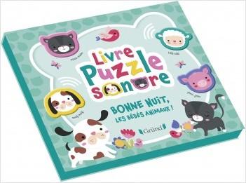 Livre Puzzle Sonore Bonne Nuit Les Bebes Animaux Lisez