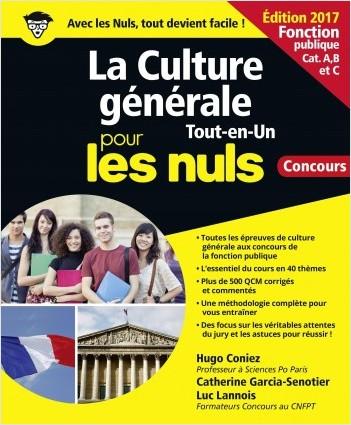 La Culture générale pour les Nuls Tout en 1 Concours Fonction publique, 2e édition