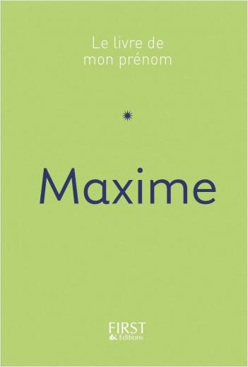 Le Livre de mon prénom - Maxime