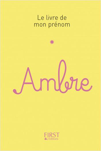 59 Le livre de mon prénom - Ambre