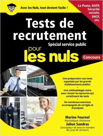 Préparer les tests de recrutement - spécial Service public pour les Nuls Concours