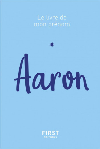 74 Le livre de mon prénom - Aaron