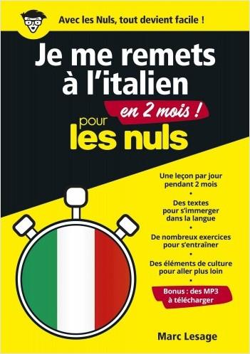 Je me remets à l'italien en 2 mois pour les Nuls, mégapoche