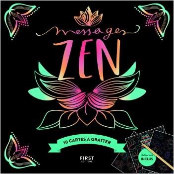 Cartes à gratter - Messages zen - 10 cartes à gratter