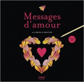 Cartes à gratter - Messages d'amour
