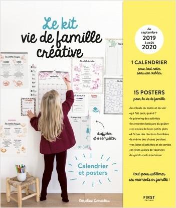 Calendrier Septembre 2019 A Aout 2020.Le Kit Vie De Famille Creative Calendrier Septembre 2019