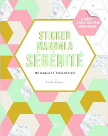 Sticker mandala sérénité - Mes tableaux à sticker anti-stress