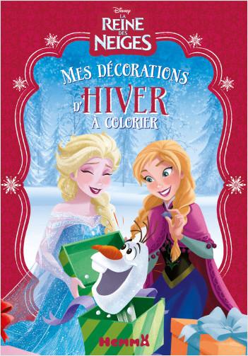 Disney La Reine des Neiges - Mes décorations d'hiver à colorier