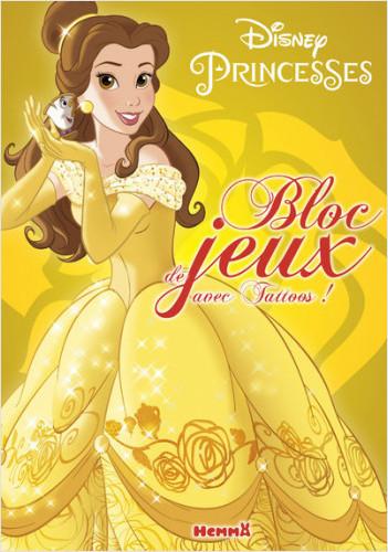 Disney Princesses - Bloc de jeux avec tattoos (Belle)