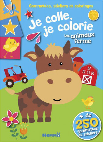 Coloriage Ferme Sans Animaux.Gommettes Stickers Et Coloriages Je Colle Je Colorie Les