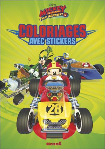 Disney Mickey et ses amis, Top départ - Coloriage avec stickers
