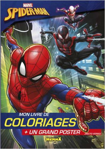 Marvel - Ultimate Spider-Man - Mon livre de coloriages + un grand poster