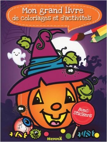 Mon grand livre de coloriages et d'activités (Halloween)