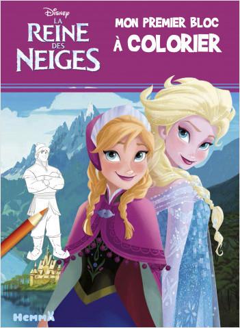 Disney La Reine des Neiges - Mon premier bloc à colorier (Anna et Elsa)