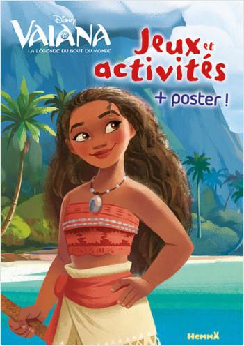 Disney Vaiana - Mon livre de jeux et activités + un grand poster