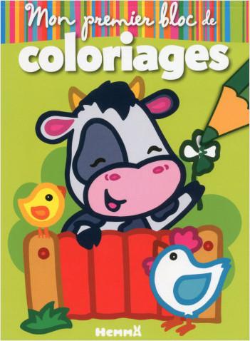 Animaux De La Ferme Pour Coloriage.Mon Premier Bloc De Coloriages Animaux De La Ferme Lisez