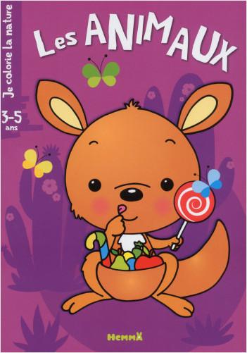 Je colorie la nature (3-5 ans) - Les Animaux - Kangourou