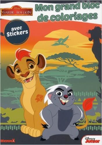 Le Roi Lion - Mon grand bloc de coloriages avec stickers