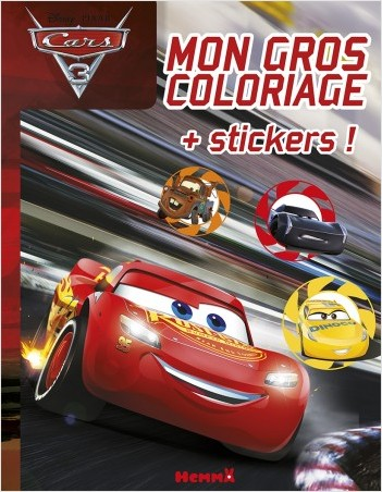 Coloriage Personnages Cars.Cars 3 Mon Gros Coloriage Stickers Lisez