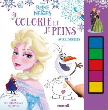 Disney - La Reine des Neiges - Je colorie et je peins avec les doigts