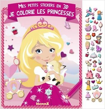 Mes petits stickers en 3D - Je colorie les princesses