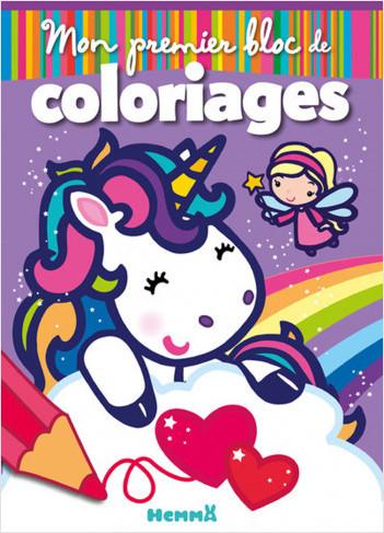 Coloriage Fee Sur Licorne.Mon Premier Bloc De Coloriages Fees Et Licornes Lisez