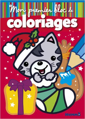 Mon Premier Bloc De Coloriages Chat Noel Lisez
