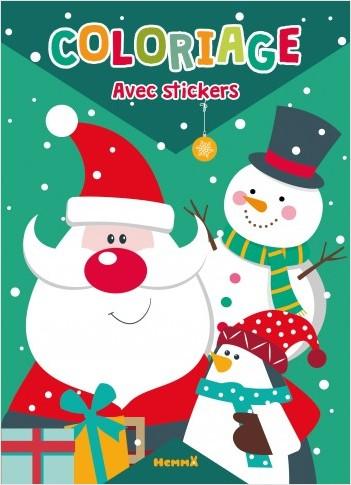 Coloriage avec stickers - Père Noël