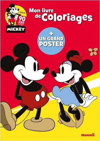 Disney Mickey Anniversaire - Mon livre de coloriages + un grand poster