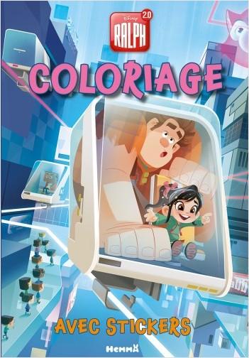 Disney Ralph 2.0 - Coloriage avec stickers