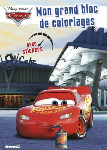 Cars Mon Grand Bloc De Coloriages Avec Stickers Lisez