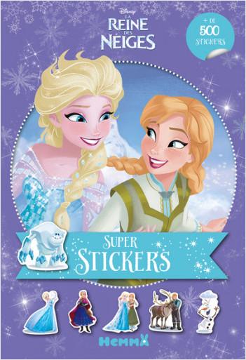 Disney La Reine des Neiges - Super stickers ! (Fond mauve)