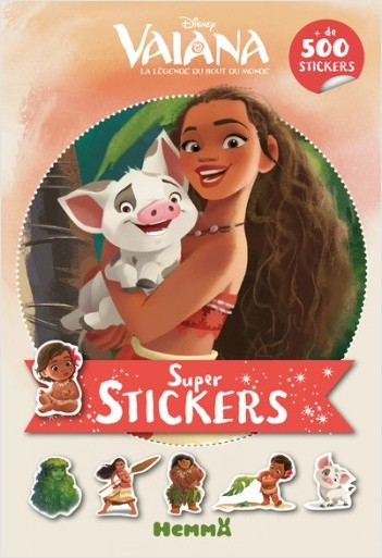 Disney Vaiana - Super stickers ! (Fond orange)