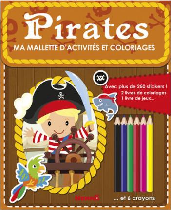 Ma mallette d'activités et coloriages - Pirates (Fond brun)