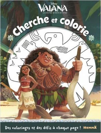 Disney Vaiana - Cherche et colorie