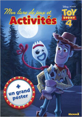 Disney Toy Story 4 - Mon livre de Jeux et Activités + un grand poster