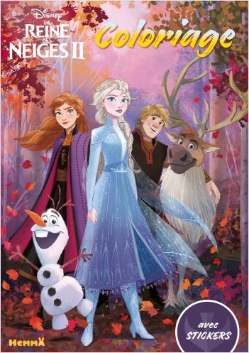 Disney La Reine Des Neiges 2 Coloriage Avec Stickers Lisez