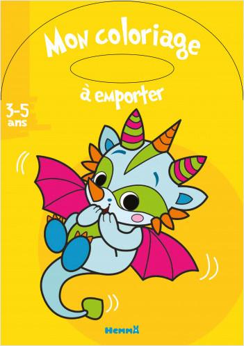 Mon Coloriage A Emporter 3 5 Ans Bebe Dragon Lisez