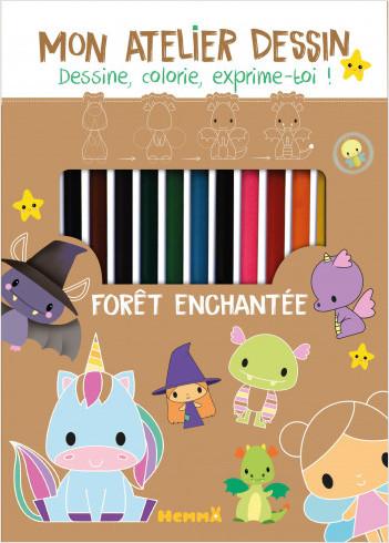 Foret Enchantee Kit Avec Crayons Taille Crayons Et Blocs Pour Apprendre A Dessiner Pas A Pas Des 6 Ans Lisez