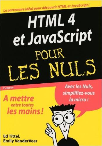 HTML 4 et Javascript 2e Megapoche Pour les nuls