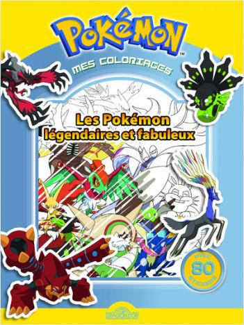 Mes Coloriages Pokémon Les Pokémon Légendaires Et Fabuleux Lisez