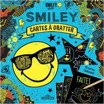 Smiley - Cartes à gratter - Cool